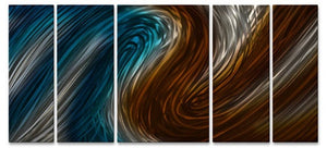Warm & Cool Currents II - Metal Wall Art Decor - Ash Carl