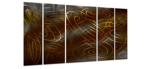 Warm Conjunction II - Metal Wall Art Decor - Ash Carl