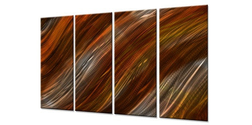Warm Current III - Metal Wall Art Decor - Ash Carl