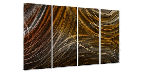 Connecting Rings III - Contemporary Metal Wall Hanging - Ash Carl