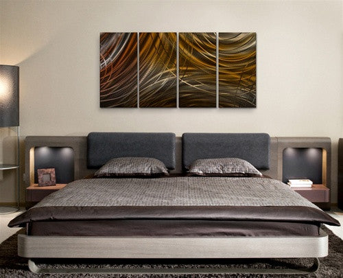 Connecting Rings III - Metal Wall Art Room Furnishing - Ash Carl