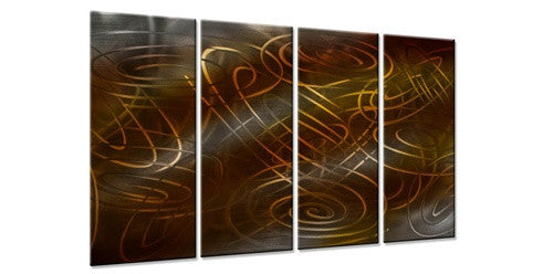 Warm Conjunction III - Metal Wall Art Decor - Ash Carl