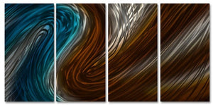 Warm & Cool Currents III - Metal Wall Art Decor - Ash Carl