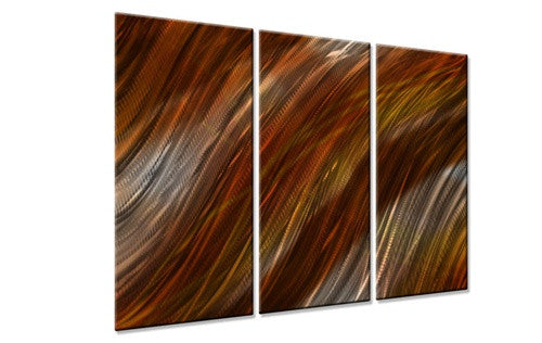 Warm Current IV - Metal Wall Art Decor - Ash Carl