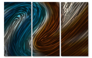 Warm & Cool Currents IV - Metal Wall Art Decor - Ash Carl