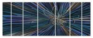 Blue Electron Ray - Metal Wall Art Decor - Ash Carl