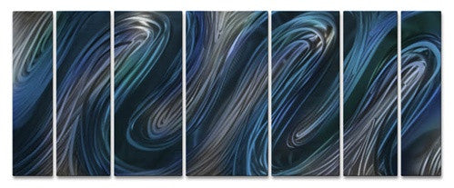 Blue Glissade - Metal Wall Art Decor - Ash Carl