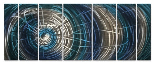 Blue Electric Expansion - Metal Wall Art Decor - Ash Carl