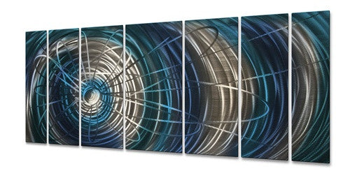 Blue Electric Expansion - Metal Wall Art Sculpture - Ash Carl