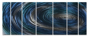 Blue Nebula - Metal Wall Art Decor - Ash Carl