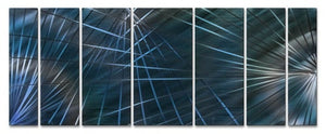 Blue Network - Metal Wall Art Decor - Ash Carl