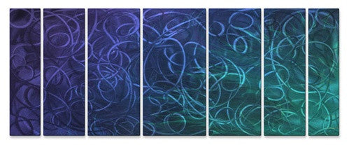 Blue Pandemonium - Metal Wall Art Decor - Ash Carl