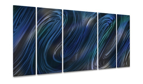 Blue Glissade II - Metal Wall Art Decor - Ash Carl
