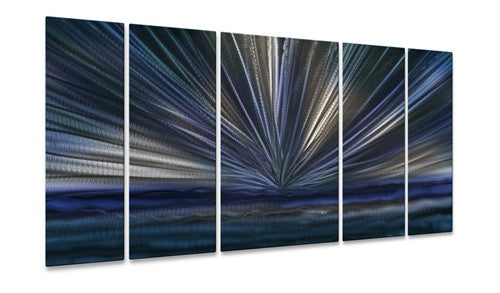 Blue Horizon II - Metal Wall Art Decor - Ash Carl