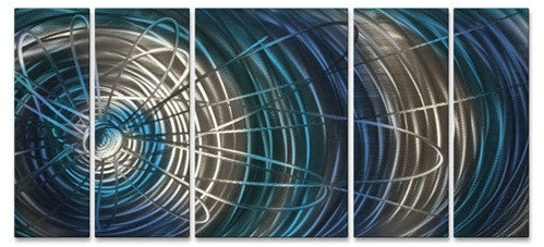 Blue Electric Expansion II - Metal Wall Art Decor - Ash Carl