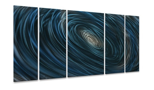 Blue Abyss II - Metal Wall Art Decor - Ash Carl