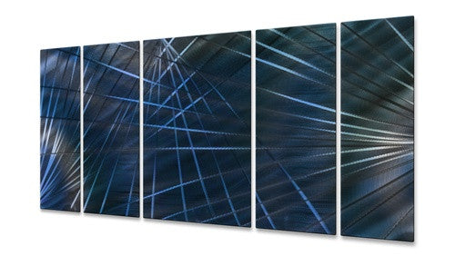 Blue Network II - Metal Wall Art Sculpture - Ash Carl
