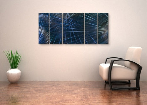 Blue Network II - Layer Panel Art Room Furnishing - Ash Carl