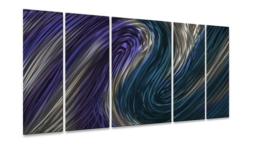 Blue Stream II - Metal Wall Art Decor - Ash Carl