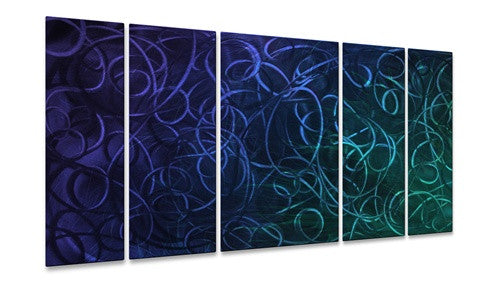 Blue Pandemonium II - Metal Wall Art Decor - Ash Carl
