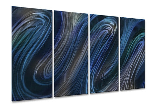 Blue Glissade III - Metal Wall Art Decor - Ash Carl