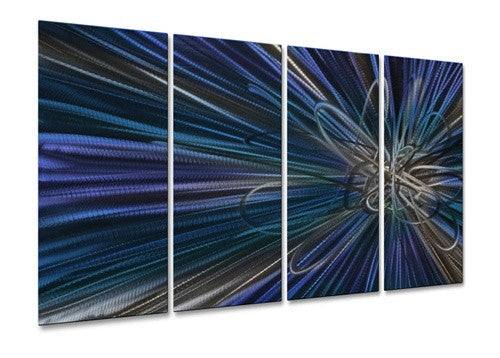 Blue Electron Ray III - Metal Wall Art Decor - Ash Carl