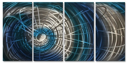 Blue Electric Expansion III - Metal Wall Art Decor - Ash Carl
