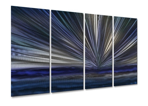 Blue Horizon III - Metal Wall Art Decor - Ash Carl