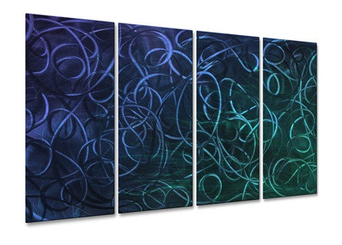 Blue Pandemonium III - Metal Wall Art Decor - Ash Carl