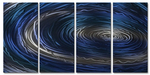 Blue Nebula III - Metal Wall Art Decor - Ash Carl
