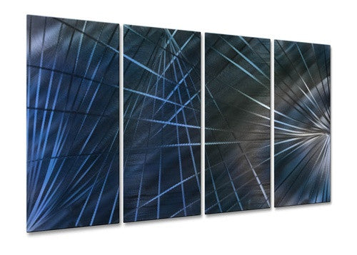 Blue Network III - Metal Wall Art Decor - Ash Carl