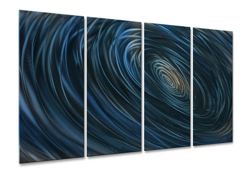 Blue Abyss III - Contemporary Metal Wall Hanging - Ash Carl