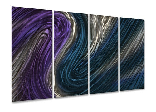 Blue Stream IV - Metal Wall Art Decor - Ash Carl