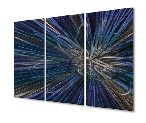 Blue Electron Ray IV - Metal Wall Art Decor - Ash Carl