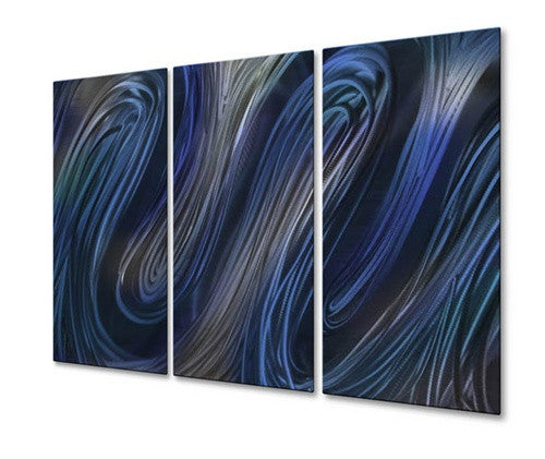 Blue Glissade IV - Metal Wall Art Decor - Ash Carl