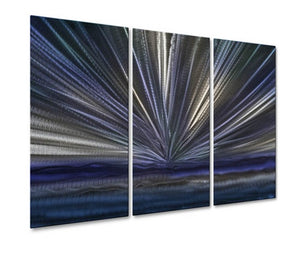 Blue Horizon IV - Metal Wall Art Decor - Ash Carl