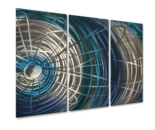 Blue Electric Expansion IV - Metal Wall Art Decor - Ash Carl