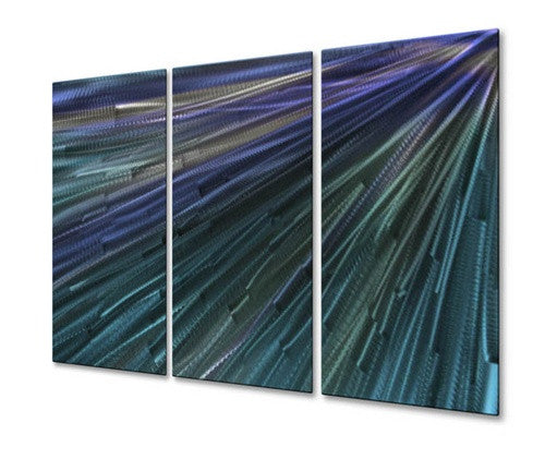 In To The Blue Light IV - Metal Wall Art Decor - Ash Carl
