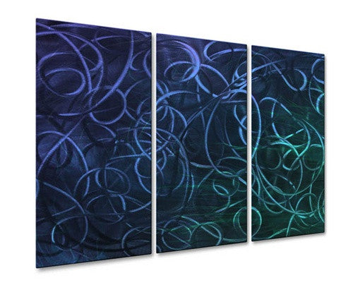 Blue Pandemonium IV - Metal Wall Art Decor - Ash Carl