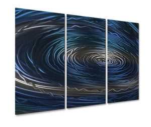 Blue Nebula IV - Metal Wall Art Decor - Ash Carl