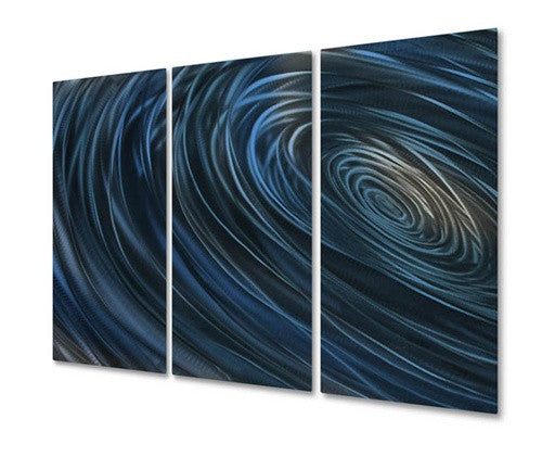 Blue Abyss IV - Metal Wall Art Decor - Ash Carl