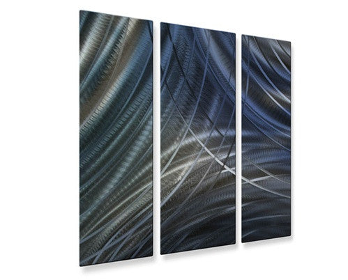 Blue Connecting Rings V - Metal Wall Art Decor - Ash Carl