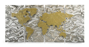 Golden World - Metal Wall Art Decor - Ash Carl