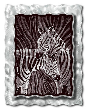Zebras - Metal Wall Art Decor - Ash Carl