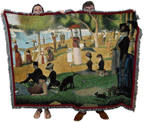 A Sunday Afternoon On The Island Of La Grande Jatte Textile Decor Accent