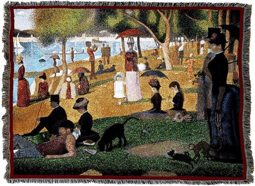 A Sunday Afternoon On The Island Of La Grande Jatte Tapestry Blanket