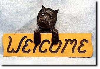Affenpinscher Dog Wood Welcome Sign