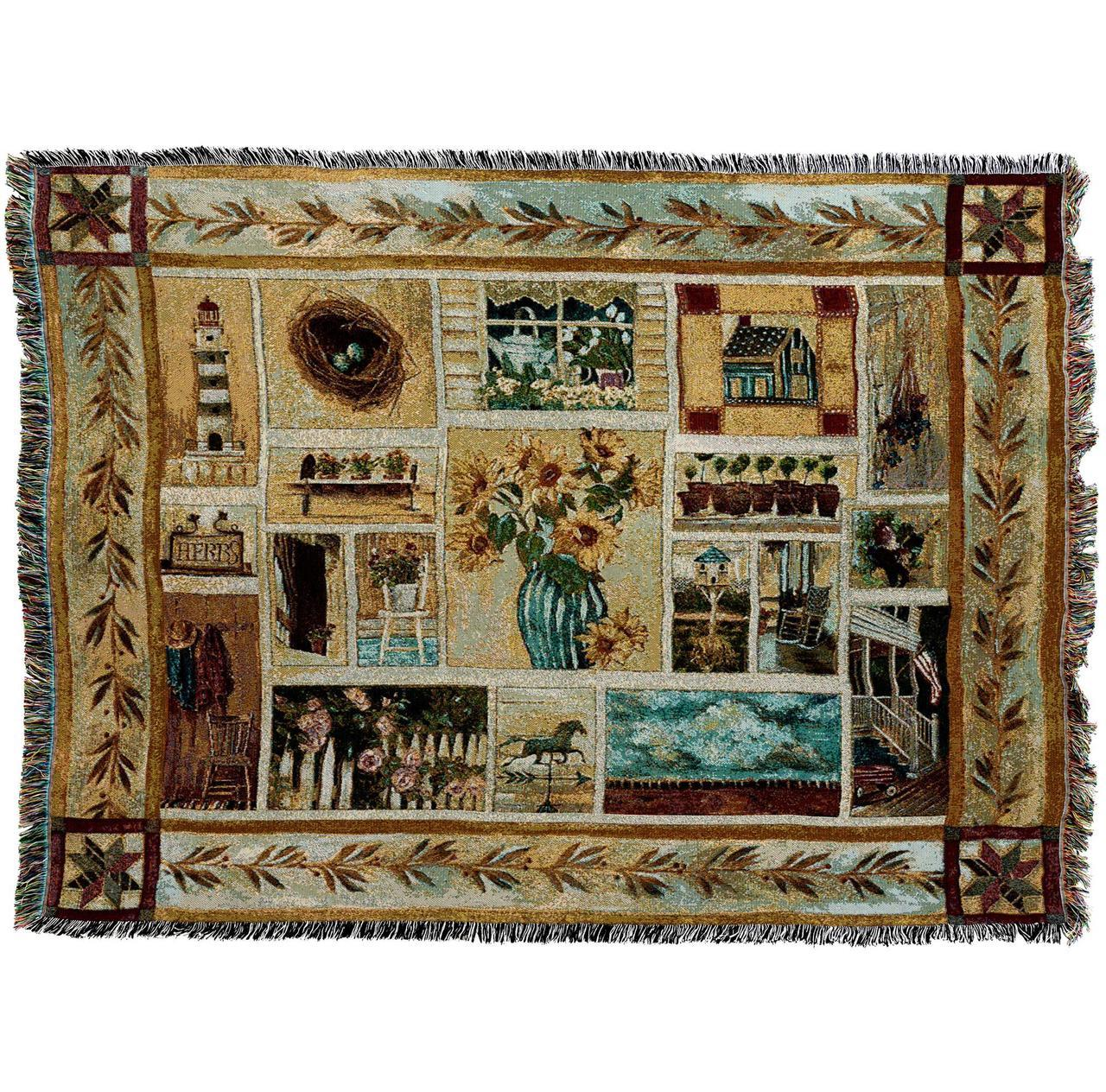 American Country Woven Throw Blanket