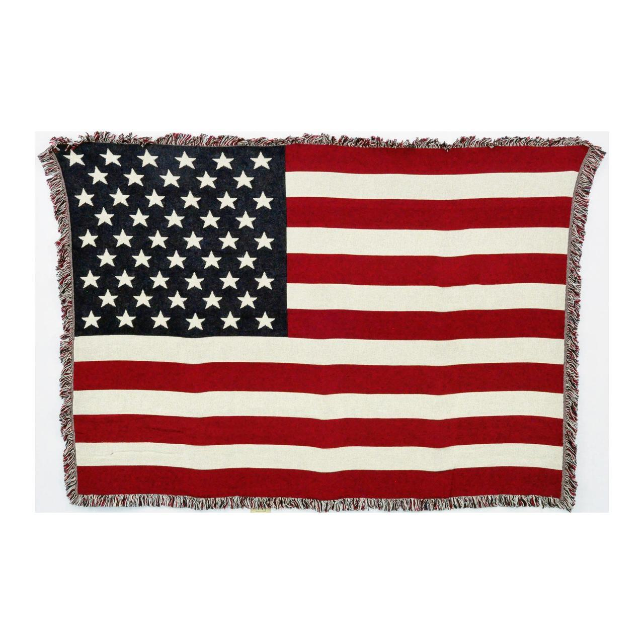 American Flag Woven Textile Accent