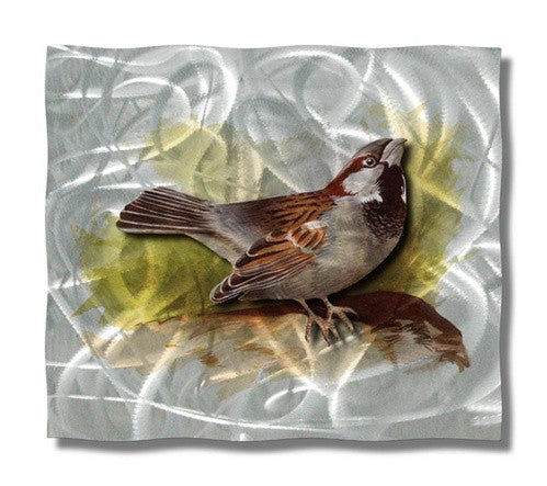Sparrow - Metal Wall Art Decor - Ash Carl Designs